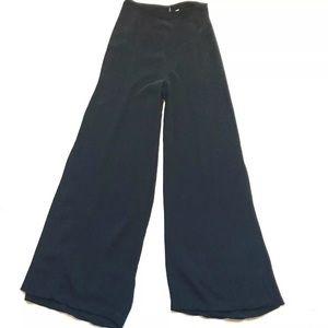 Free People 2 Wide Leg Slit Pants Black High Rise